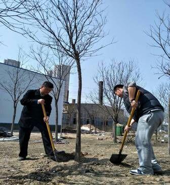 学院领导积极参加学院团委组织开展的志愿者活动